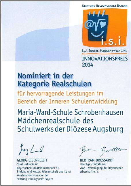 I.S.I.-Preis 2014